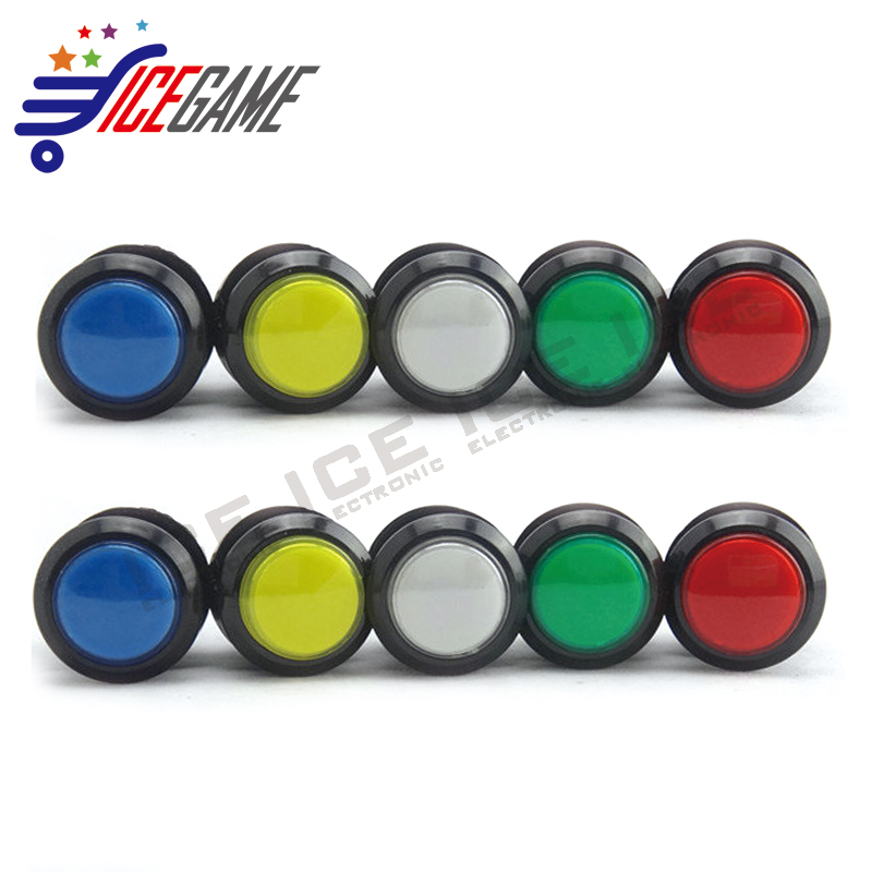 DIY Arcade Parts 5 Colors 30mm Small Black Rim LED Illuminated Push Button With Micro Switch for Arcade Video Game