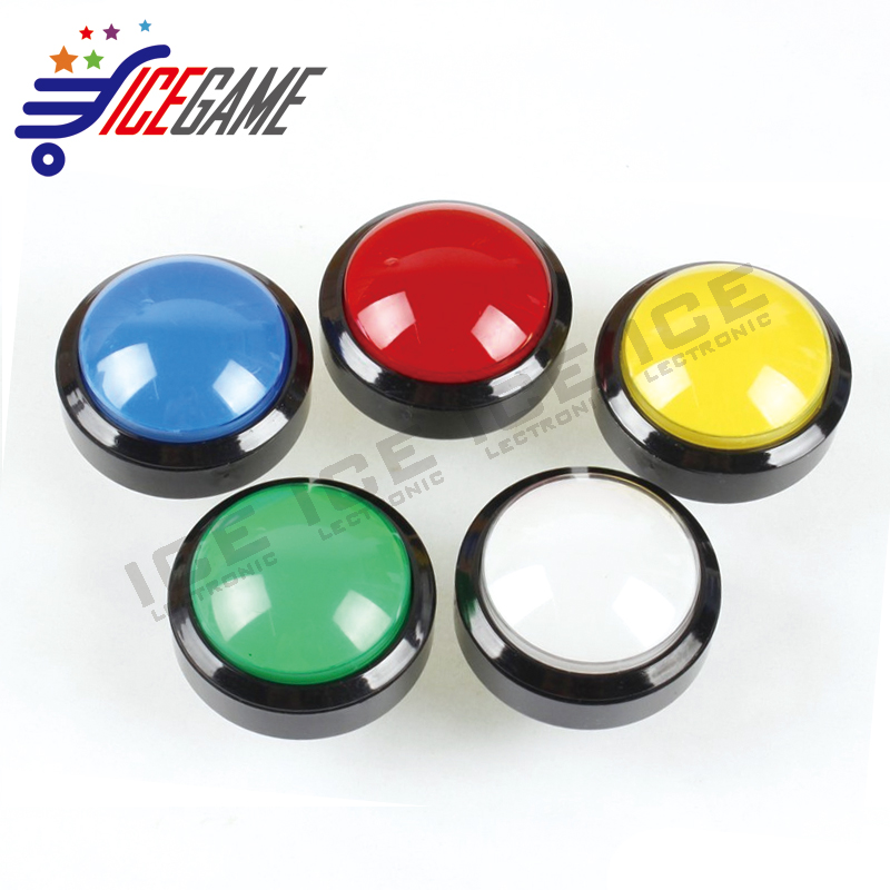 60mm Dome Shaped LED Illuminated Push Buttons For Arcade Coin Machine Operated Games