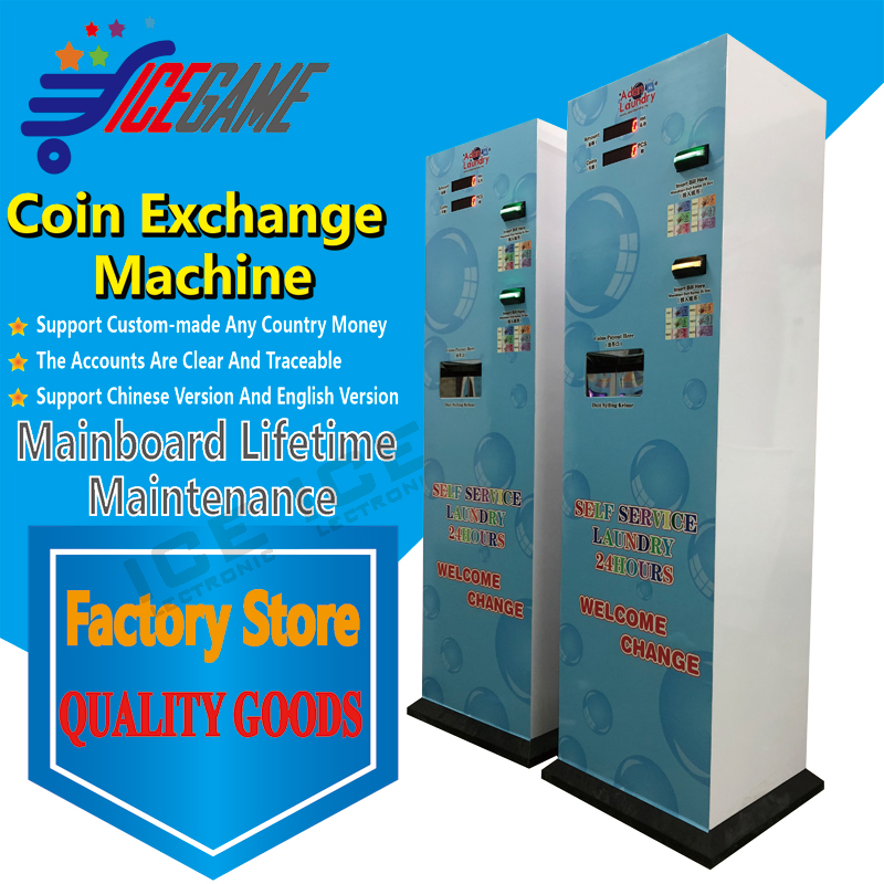 Mlaysia laundry double bill acceptor coin chenger machine laundry room changer machine token changer