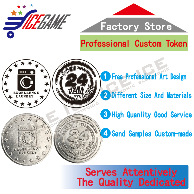 Laundry room token custom-made all kinds of token coins gaming token coin