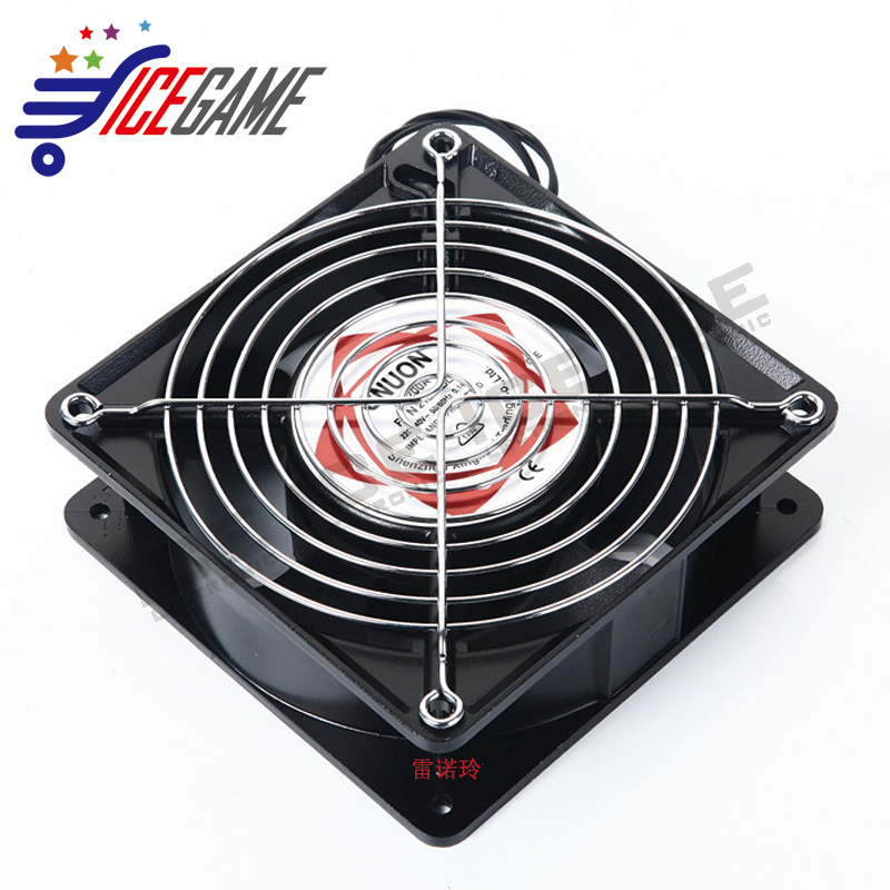 12*12cm 220V Game Machine Fans 120x120x25mm Metal Made Cooling Fans for arcade Amusement game machine- arcade game machine parts
