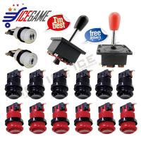 Arcade Replace Part Classic Arcade America Style 8 Way Joystick HAPP Push Buttons With Microswitche Kit for Coin Operated Games